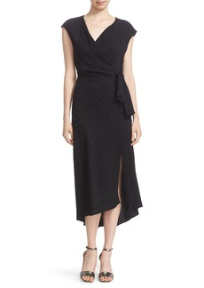 Tracy Reese Cloqué Faux Wrap Dress