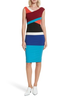 Tracy Reese Colorblock Surplice Dress