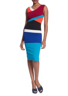 Tracy Reese Colorblocked Surplice Dress