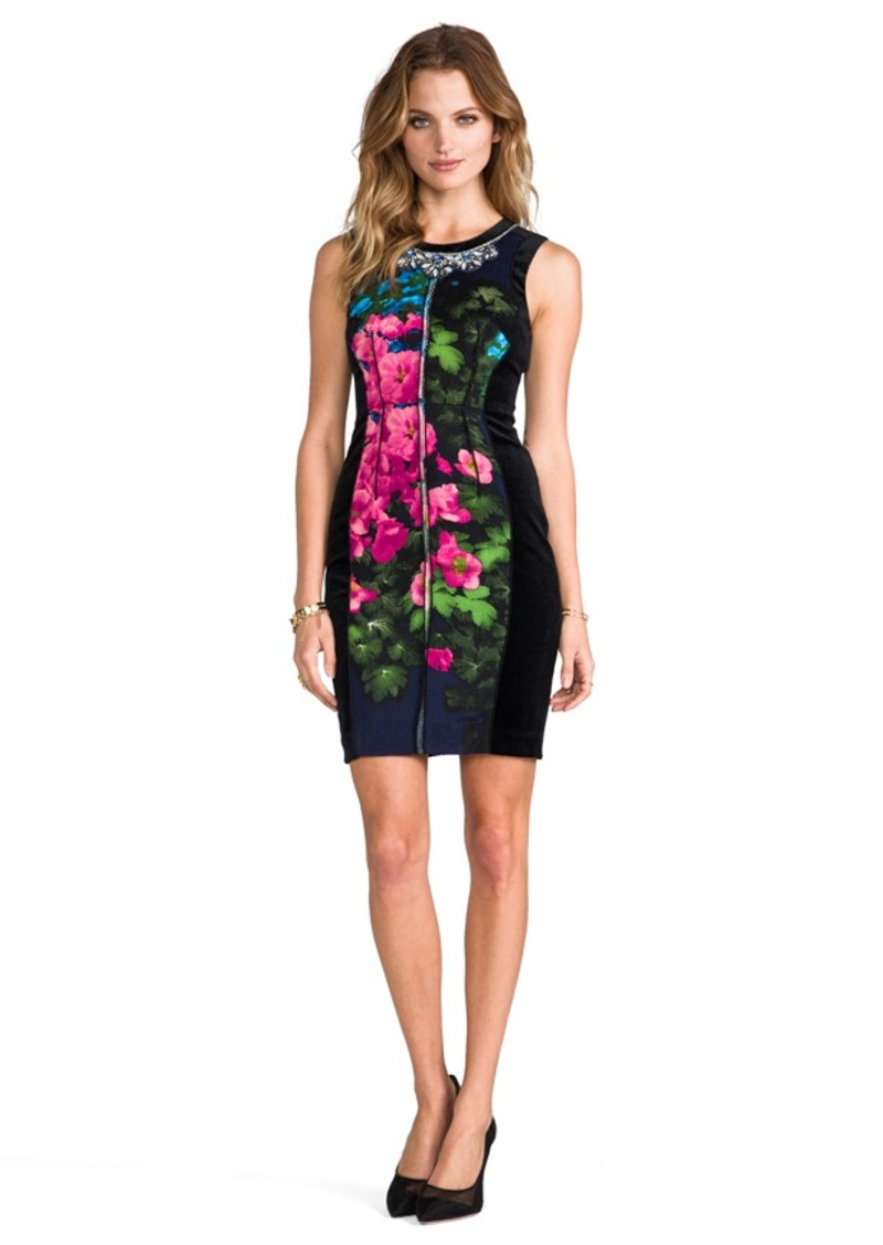 Tracy Reese Contrast Shift Dress in Black
