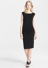 Tracy Reese Cross Back Cloque Knit Sheath Dress