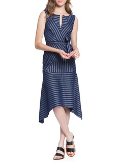 Directional Stripe A-Line Dress