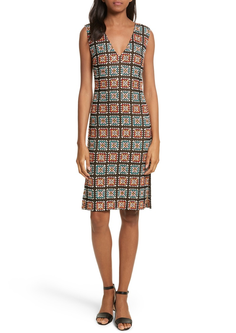 Tracy Reese Embellished Georgette Sheath Dress