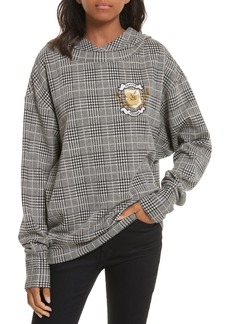 Tracy Reese Embellished Plaid Hoodie