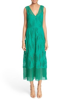 Tracy Reese Embroidered Ramie Dress