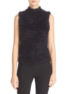 Tracy Reese Faux Fur Mock Neck Shell