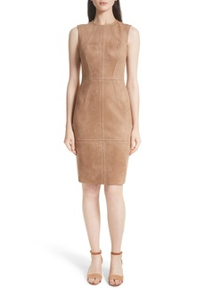Tracy Reese Faux Suede Sheath Dress