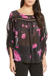 Tracy Reese Floral Silk Blouse