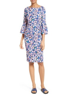 Tracy Reese Floral Stretch Silk Sheath Dress