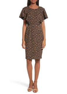 Tracy Reese Flounce Sleeve Sheath Dress