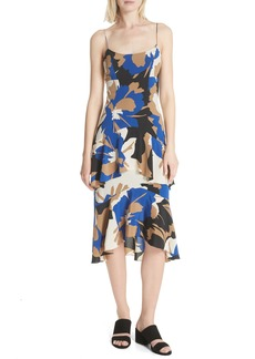 Tracy Reese Flounced Print Slipdress