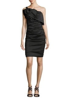 Tracy Reese Frilled Column Little Black Dress