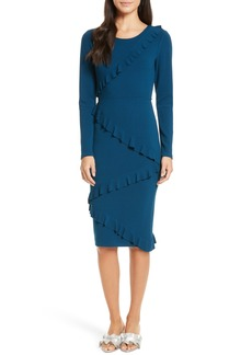 Tracy Reese Frilled Sheath Dress