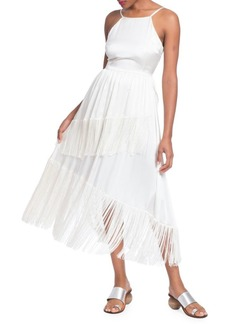 Tracy Reese Fringed Silk Frock Dress