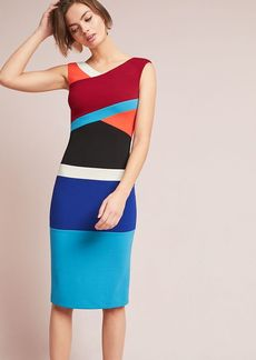 Tracy Reese Geometric Colorblocked Column Dress