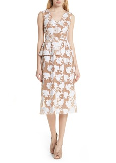 Tracy Reese Half Peplum Floral Dress