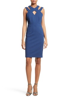 Tracy Reese Harness Neck Sheath Dress