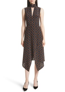 Tracy Reese Kerchief A-Line Silk Dress