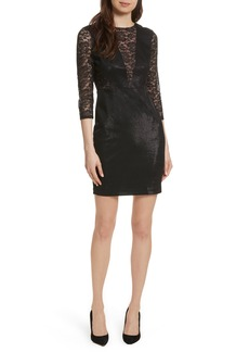 Tracy Reese Lace Combo Sheath Dress