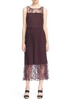 Tracy Reese Lace Inset Jersey Dress