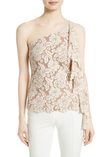 Tracy Reese Lace One-Shoulder Top