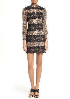 Tracy Reese Lace Stripe Sheath Dress