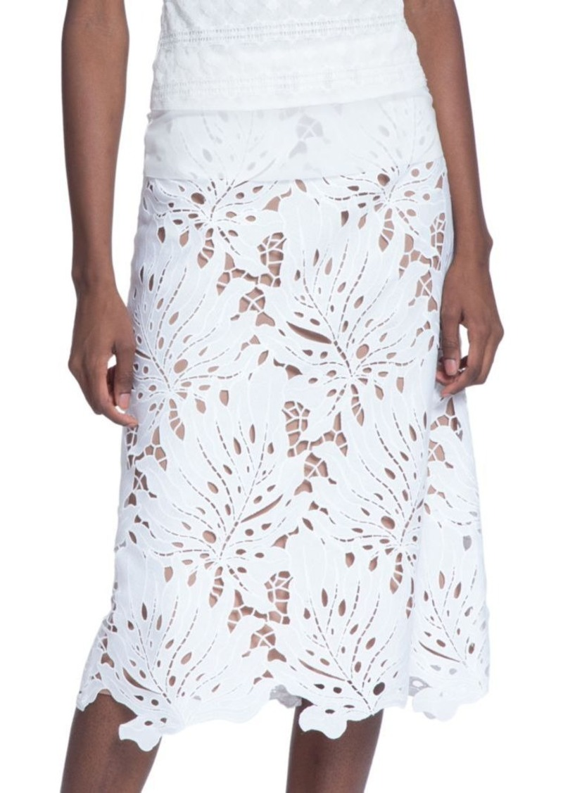 tracy reese tracy reese laser cut a line skirt skirts