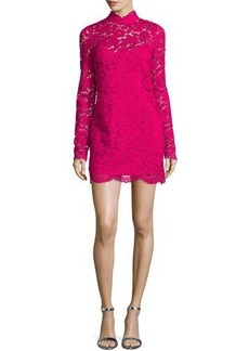Tracy Reese Long-Sleeve Lace Mini Dress