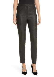 Tracy Reese Metallic Skinny Pants