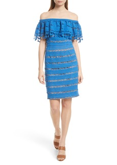 Tracy Reese Off the Shoulder Crochet Dress