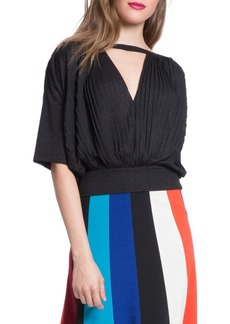 Tracy Reese Pleated Blouson Top
