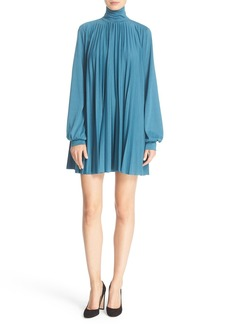 Tracy Reese Pleated Jersey Turtleneck Dress