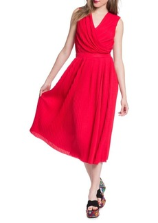 Tracy Reese Pleated Surplice Dress