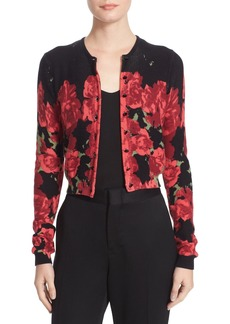 Tracy Reese Print Cardigan