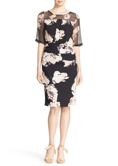 Tracy Reese Print Stretch Silk Blouson Dress