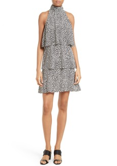 Tracy Reese Print Tiered Halter Dress