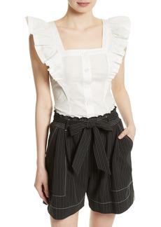 Tracy Reese Ruffle Peasant Shirt