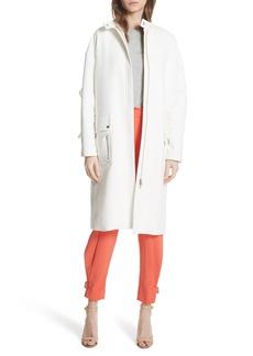Tracy Reese Ruffle Sleeve Cotton Coat