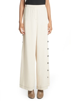 Tracy Reese Side Button Wide Leg Pants