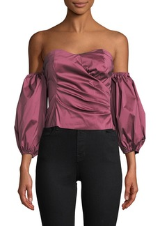 Tracy Reese Solid Sweetheart Top