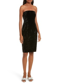 Tracy Reese Strapless Velvet Dress