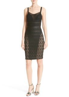 Tracy Reese Stretch Lace Body-Con Dress