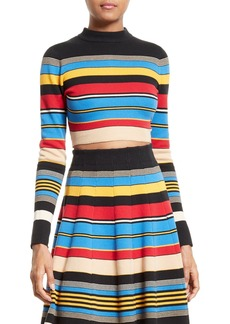 Tracy Reese Stripe Crop Top