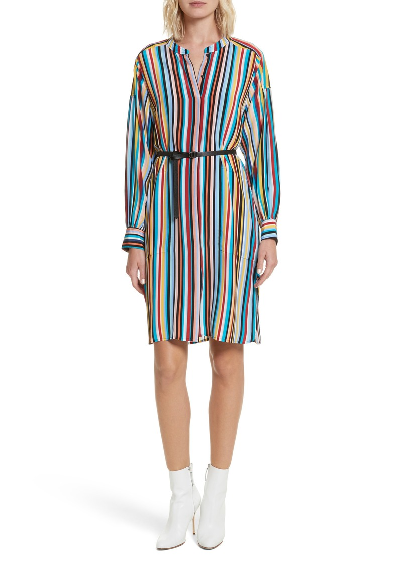 Tracy Reese Stripe Silk Shirtdress