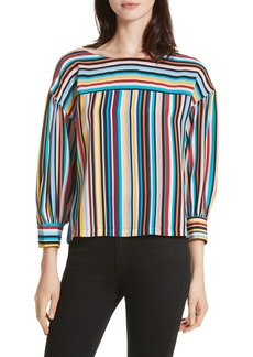 Tracy Reese Stripe Silk Top