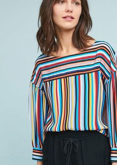 Tracy Reese Striped Silk Blouse
