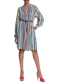 Tracy Reese Striped Silk Shirtdress