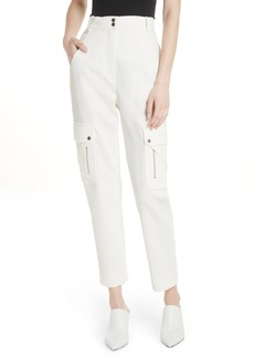Tracy Reese Textured Stretch Cotton Blend Utility Pants