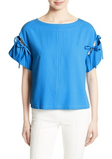Tracy Reese Tie Sleeve Top
