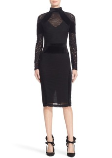 Tracy Reese Triple Threat Lace & Velvet Combo Dress